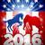 republikánus · elefánt · kabala · USA · zászló · illusztráció - stock fotó © krisdog