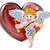 valentines cupid and heart stock photo © krisdog