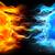 azul · fogo · cara · bela · mulher · chamas · lua - foto stock © krisdog