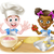 cartoon children bakers cooking stock photo © krisdog