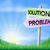 problem and solution sign in field stock photo © krisdog