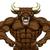 tough bull mascot stock photo © krisdog