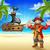 kalózok · kincs · sziget · rajz · illusztrációk · fantázia - stock fotó © krisdog