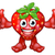 strawberry fruit cartoon character mascot stock photo © krisdog