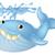 kék · rajz · bálna · fehér · boldog · vízalatti - stock fotó © krisdog