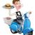 hombre · pizza · joven · mensajero · conducción - foto stock © krisdog