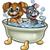 cão · banho · ilustração · desenho · animado · animal · de · estimação - foto stock © krisdog