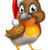 robin bird in santa christmas hat stock photo © krisdog