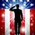 us soldier salute patriotic background stock photo © krisdog