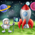rajz · rakéta · űrhajós · jelenet · illusztráció · retro - stock fotó © krisdog