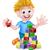 peuters · speelgoed · meisje · jongen · konijn - stockfoto © krisdog