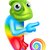 cartoon rainbow chameleon pointing stock photo © krisdog