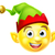 christmas elf emoticon stock photo © krisdog