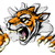 тигр · талисман · характер · черно · белые · иллюстрация - Сток-фото © krisdog