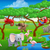 cute cartoon safari animal scene landscape stock photo © krisdog