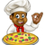 zwarte · pizza · chef · cartoon · kok - stockfoto © krisdog