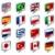 vector · wereld · vlaggen · web · knoppen · twee - stockfoto © krisdog