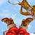 santa in chimney and reindeer stock photo © krisdog