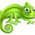 bonitinho · camaleão · ilustração · verde · desenho · animado · lagarto - foto stock © krisdog