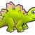 stegosaurus dinosaur cartoon character stock photo © krisdog