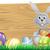 húsvét · nyuszi · nyúl · tojások · kosár · boldog - stock fotó © krisdog