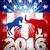 szamár · harcol · elefánt · választás · sziluettek · amerikai · zászló - stock fotó © krisdog