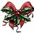 vintage woodcut christmas holly bow stock photo © krisdog