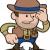 illusztráció · cowboy · sheriff · férfi · áll · western - stock fotó © Krisdog