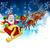santa sleigh christmas background stock photo © krisdog