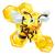 cartoon · bee · illustratie · glimlachend - stockfoto © krisdog