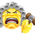 boos · emoticon · icon · cartoon · naar · woedend - stockfoto © krisdog