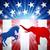 amerikai · választás · szamár · elefánt · harcol · sziluett - stock fotó © krisdog