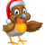 cartoon christmas robin bird stock photo © krisdog