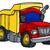 vector · Cartoon · camión · eps10 · formato · grupos - foto stock © krisdog