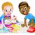 gyerekek · gyerekek · játszanak · művészet · boldog · iskola · gyermek - stock fotó © krisdog