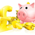 banku · piggy · złote · monety · ilustracja · ceny · polu · około - zdjęcia stock © krisdog
