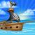jelenet · kalóz · hajó · óceán · illusztráció · lány - stock fotó © krisdog