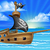 pirata · crânio · ilha · navio · água · mar - foto stock © krisdog
