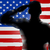 veterans day silhouette soldier saluting stock photo © krisdog