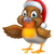 cartoon robin bird in santa christmas hat stock photo © krisdog
