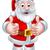 kerstman · mascotte · cartoon · glimlach · gelukkig · medische - stockfoto © krisdog