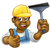 desenho · animado · limpador · de · janelas · negócio · homem - foto stock © krisdog