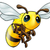 honingbij · mascotte · icon · illustratie · hoofd · bee - stockfoto © krisdog
