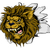 aslan · karikatür · Retro · sirk · çizim · sevimli - stok fotoğraf © krisdog