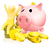 rózsaszín · persely · arany · érmék · pénz · felirat · játék - stock fotó © krisdog