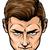 erős · gyenge · férfiak · rajzolt · emberek · karakter · izolált - stock fotó © krisdog