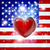 love america flag heart background stock photo © krisdog