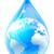 water drop droplet world earth globe stock photo © krisdog