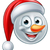 christmas snowman santa hat emoji stock photo © krisdog