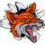 Fox · visage · isolé · cute · blanche - photo stock © krisdog